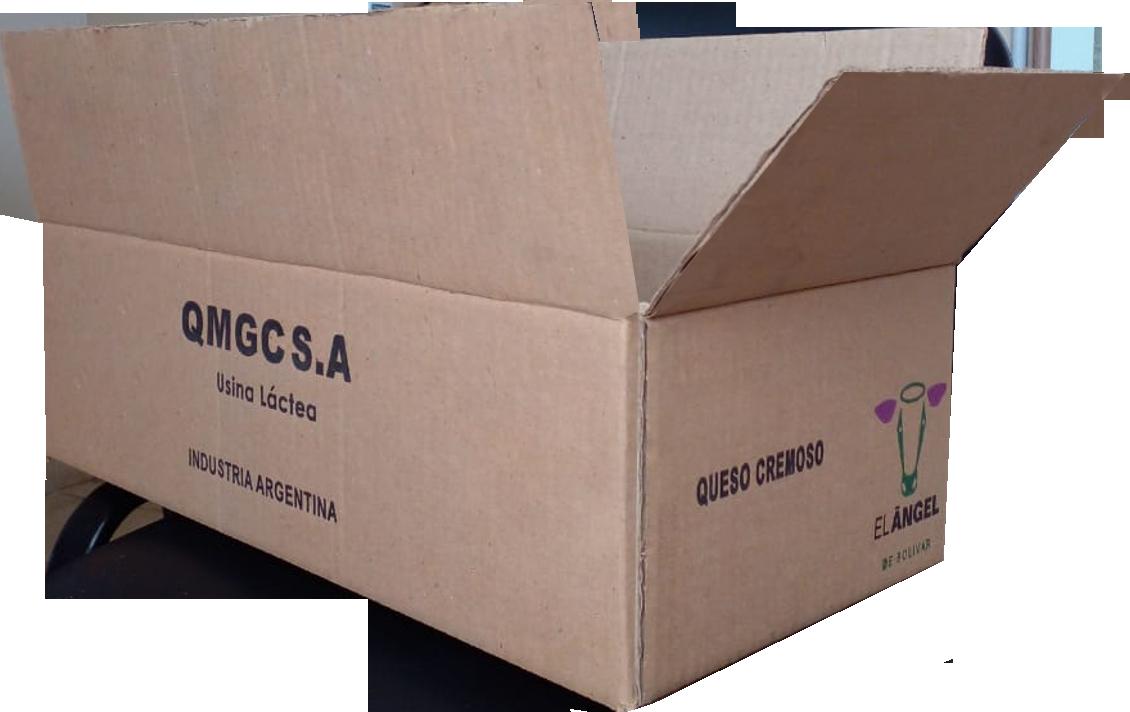 Caja de cartón corrugado para quesos